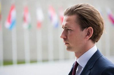 Глава МЗС Австрії Себастьян Курц у 2016 році