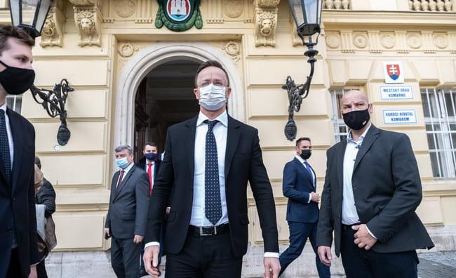 Під час неузгодженого візиту угорського міністра до Комарно