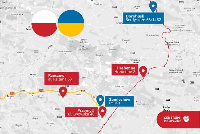 Польські центри вакцинації поблизу кордону з Україною