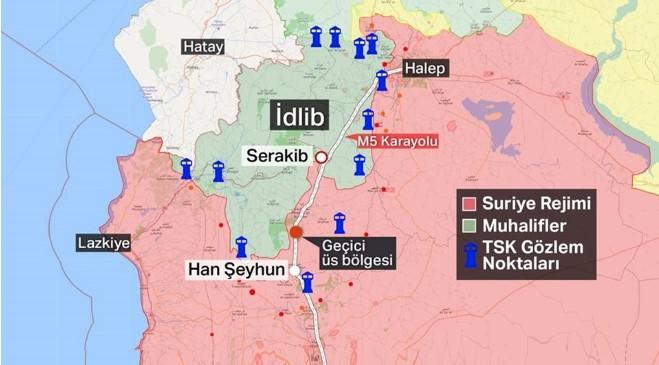Спостережні пункти турецької армії в Ідлібі