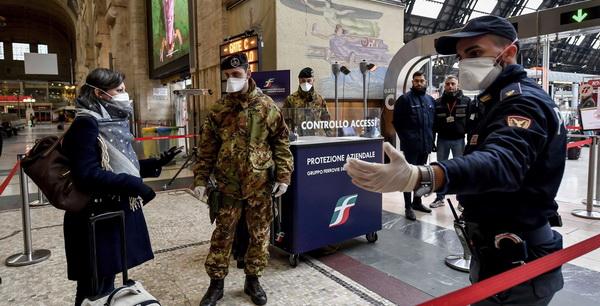 Контроль на міланському вокзалі