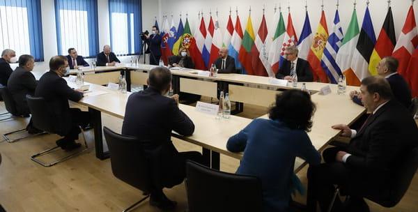 Зустріч Шарля Мішеля із лідерами грузинських опозиційних партій, фото прес-служби