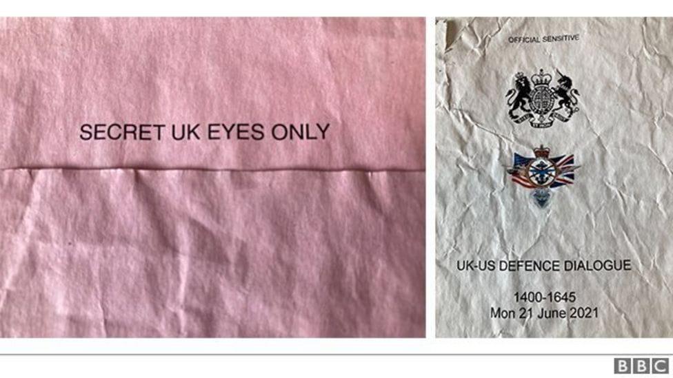 Фрагмент документов. Фото: BBC