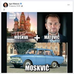 Матович на своve fb іронізує над інформацією про його звязки з РФ