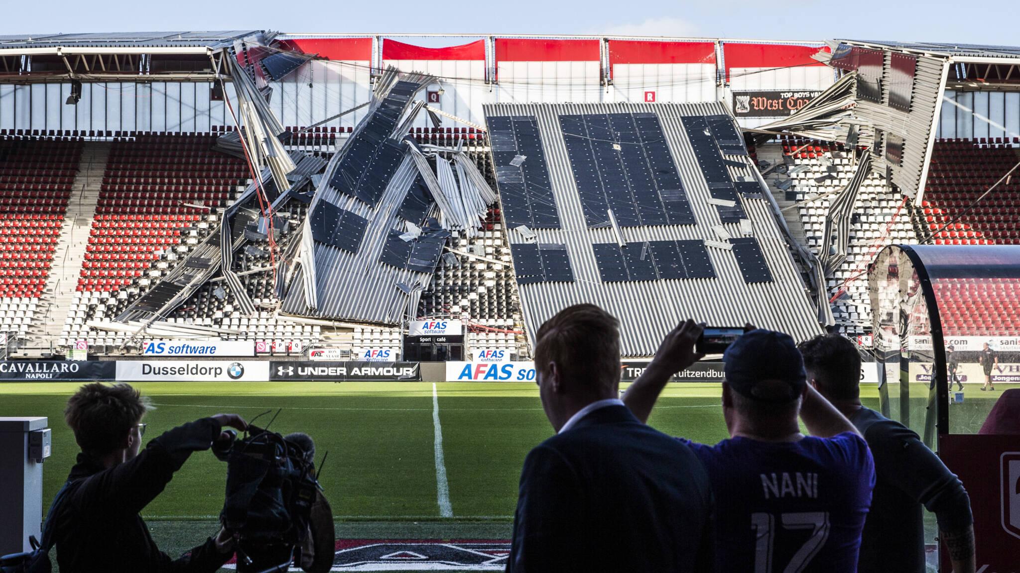 В Нидерландах обрушилась крыша на стадионе, где должен был играть украинский клуб